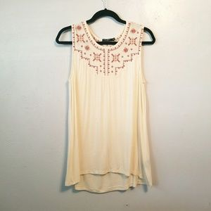 Max Jeans embroidered flowy sleeveless top